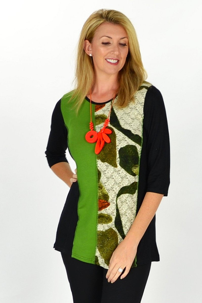 Green Rachel Tunic - at I Love Tunics @ www.ilovetunics.com = Number One! Tunics Destination