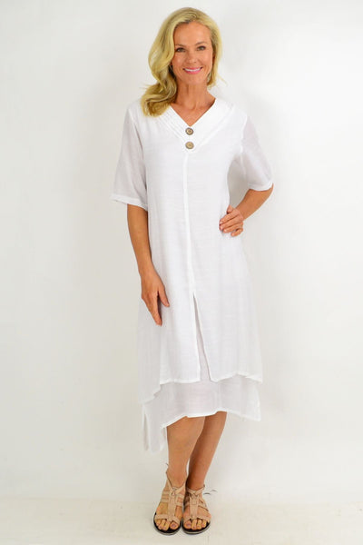 White Overlay Tunic Dress | I Love Tunics | Tunic Tops | Tunic | Tunic Dresses  | womens clothing online