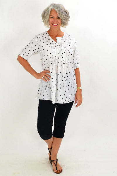 White Bessie Tunic Shirt