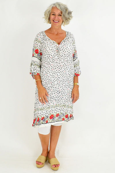 Rosanna Crinkle Tie Tunic Dress