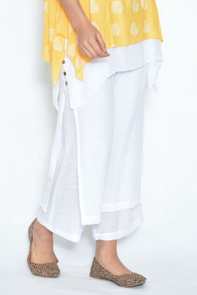 White Double Layer Pants