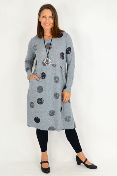 Grey Spot Stacy Tunic Dress