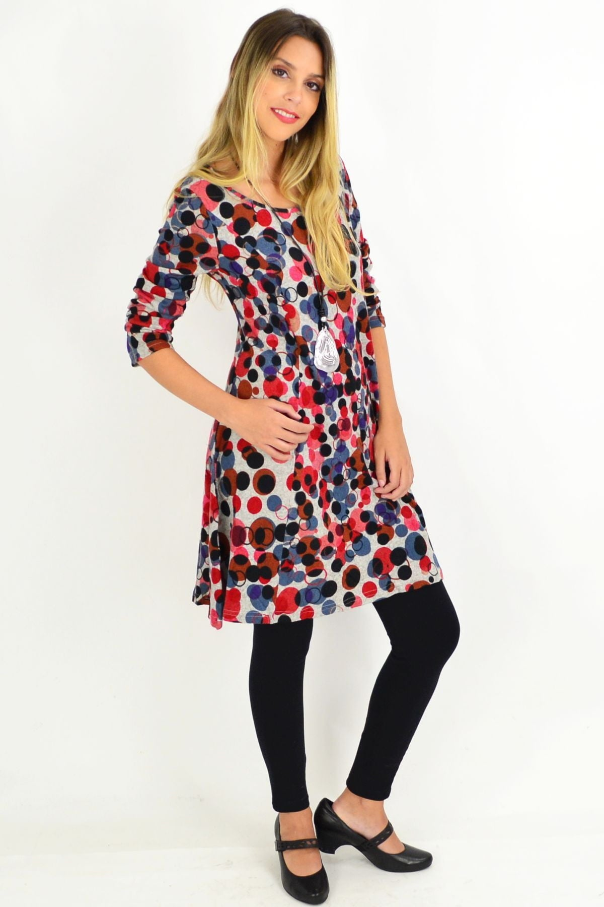 Sofie Spotty Long Sleeve Tunic Dress | I Love Tunics | Tunic Tops | Tunic | Tunic Dresses  | womens clothing online