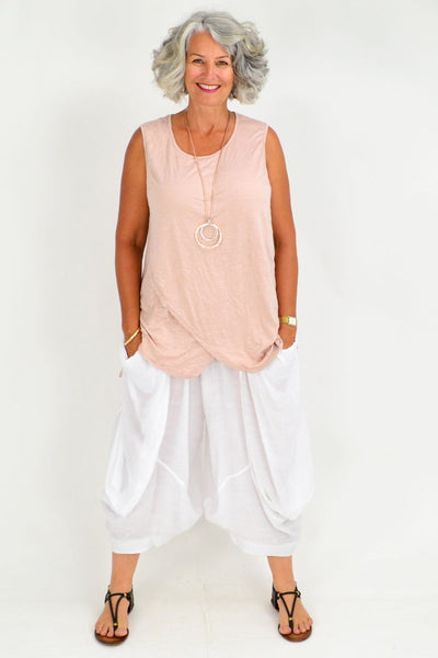 Julie Pink Blush Cotton Tunic Top