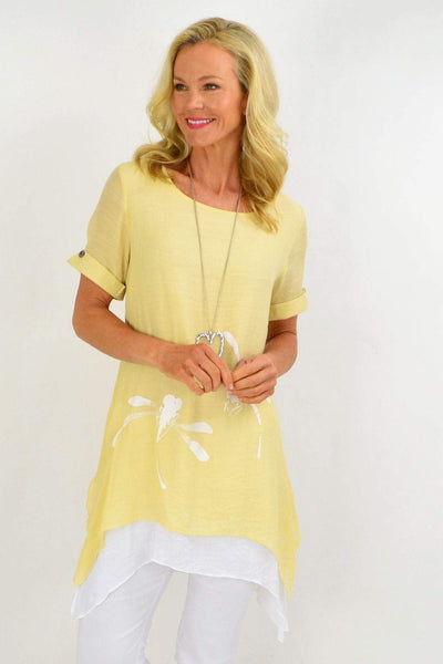 Yellow Dragonfly Tunic Top | I Love Tunics | Tunic Tops | Tunic | Tunic Dresses  | womens clothing online
