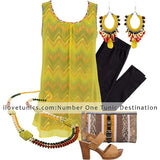 Yellow Zigzag Tunic - at I Love Tunics @ www.ilovetunics.com = Number One! Tunics Destination