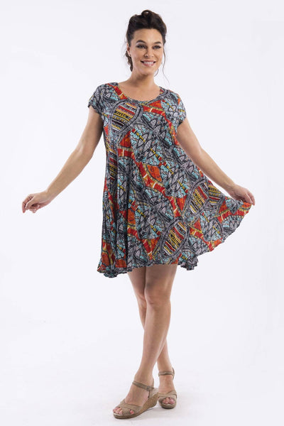 Colourful Reversible Tunic Dress by Orientique
