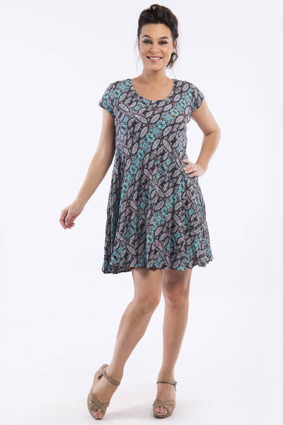 Colourful Reversible Tunic Dress by Orientique | I Love Tunics | Tunic Tops | Tunic Dresses | Women's Tops | Plus Size Australia | Mature Fashion