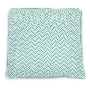 Green - Manu Green Waves Cushion