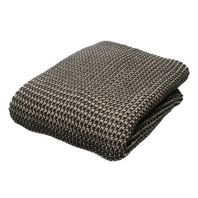 Cotton knit throw - charcoal