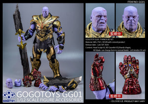 GOGOTOY 1/12 Scale Figure Accessories - GG01 Battle Damage for SHF Thanos EX Set Pre-order