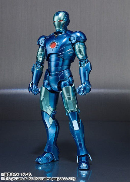 S. H. Figuarts Iron Man Mark 3 – Stealth Blue Version Tamashii Nations Comic Con Exclusive