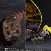 S.H. MonsterArts Godzilla Vs Mothra - Mothra (Adult) & Mothra (Larvae) Set Special Color