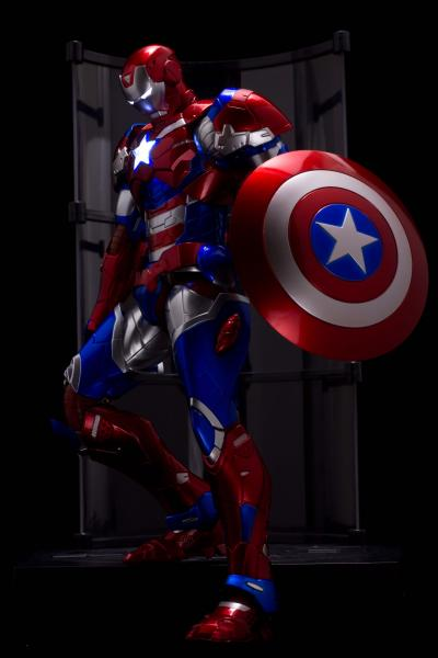 Sentinel Marvel Ironman RE:EDIT #03 Iron Patriot SDCC 2016 Exclusive Figure *Box Damage*