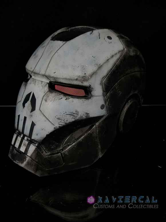 Xavier Cal Custom Marvel Legends War Machine : Punisher 1:1 Scale Wearable Helmet