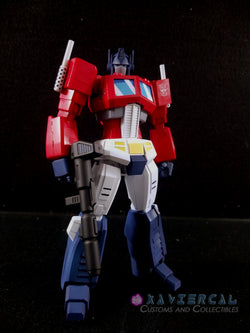Xavier Cal Custom Flame Toys Furai Transformers - G1 Optimus Prime Cartoon Colors Ver.