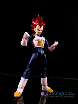 Xavier Cal Custom S. H. Figuarts Dragon Ball Super : Super Saiyan God Vegeta