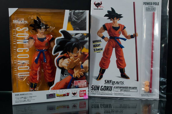 SDCC 2018 S. H. Figuarts Dragon Ball Z - A Saiyan Raised On Earth - Son Goku W/ Exclusive Power Pole!