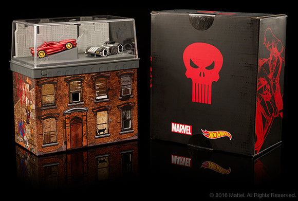 SDCC 2016 Exclusive Mattel Hot Wheels Daredevil VS Punisher
