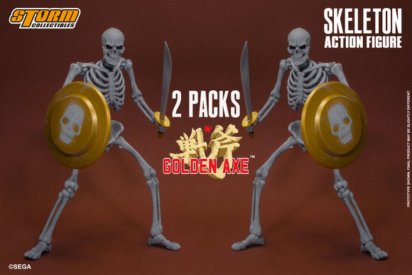Storm Collectibles Golden Axe - Skeleton 2 Pack Pre-order