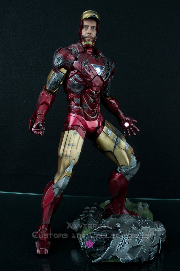 Xavier Cal Custom: Battle Damage Hot Toys Iron Man Mark 6 MMS132