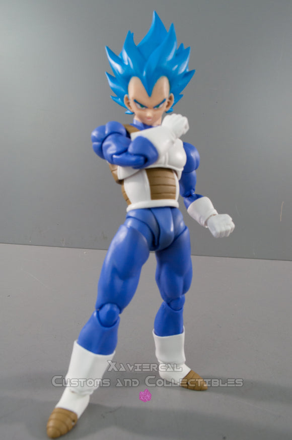 Xavier Cal Custom S.H. Figuarts - Dragon Ball Z - Super Saiyan God Vegeta Hair Color Only