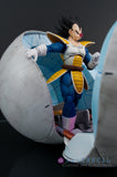Xavier Cal Custom S. H. Figuarts Dragon Ball Z Sayian Saga - Vegeta + Sayian Pod & Diorama Set