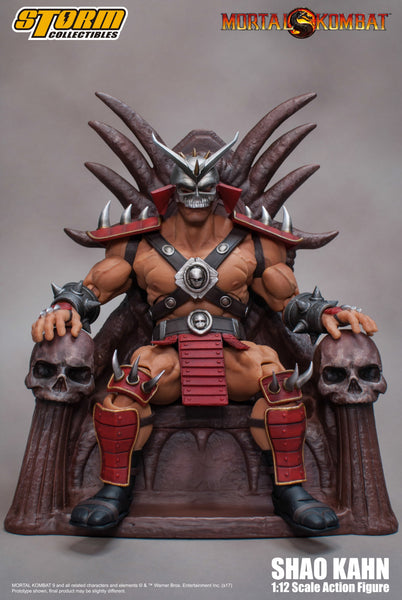 Shao Kahn Mortal Kombat Storm Collectibles 1:12 Action Figure - Box Damage -