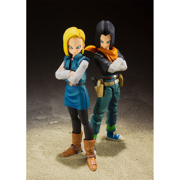 S. H. Figuarts Dragon Ball Z Androids 17 & 18 Set - Event Exclusive Color Edition