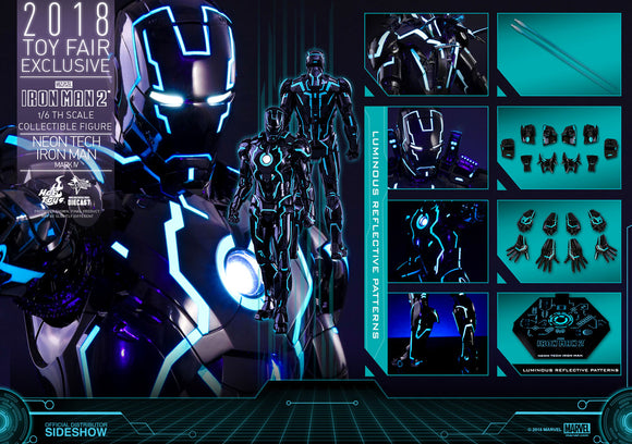 Hot Toys Marvel Neon Tech Iron Man Mark IV Toy Fair 2018 Exclusive