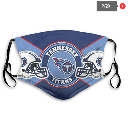 Tennessee Titans Face Mask- Reuseable, Fashionable, Several Styles