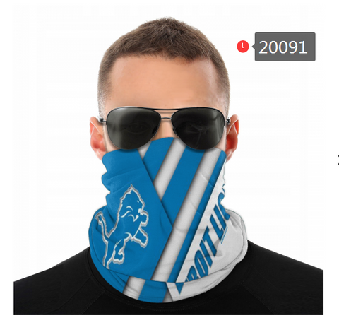 Detroit Lions Face Mask - Bandana Scarf, Reuseable, Washable