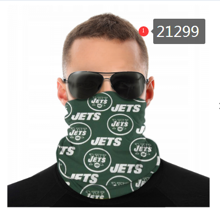 New York Jets Face Mask - Bandana Scarf, Reuseable, Washable