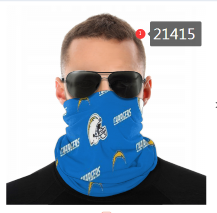 Los Angeles Chargers Face Mask - Bandana Scarf, Reuseable, Washable