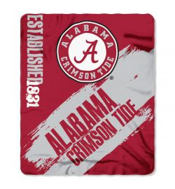 "Alabama Crimson Tide Blanket - ""Painted""  Fleece Throw (50"" x 60"")"