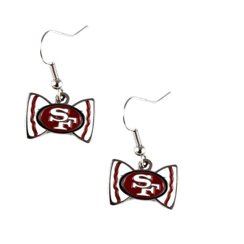 San Francisco 49ers Bow-Tie Dangle Earrings