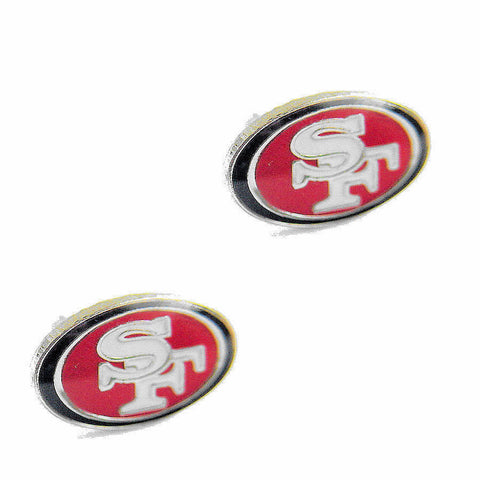 San Francisco 49ers Logo Stud Earrings