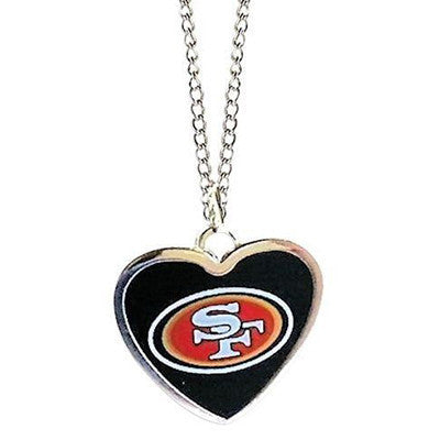 San Francisco 49ers Logo Heart Necklace
