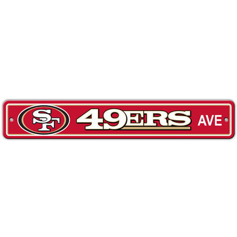"San Francisco 49ers Street Sign - 4""x24"""