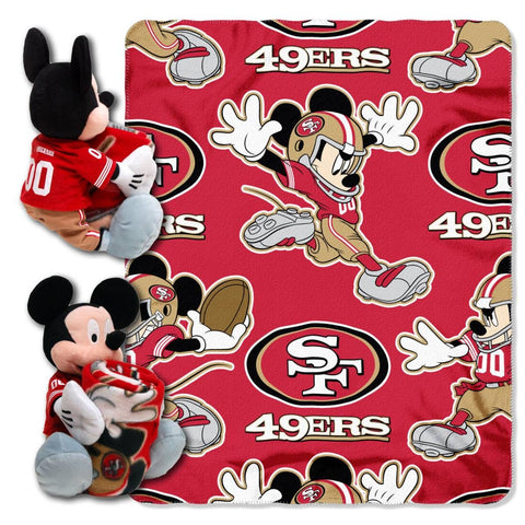 San Francisco 49ers Blanket - Mickey Hugger and Fleece Throw Set