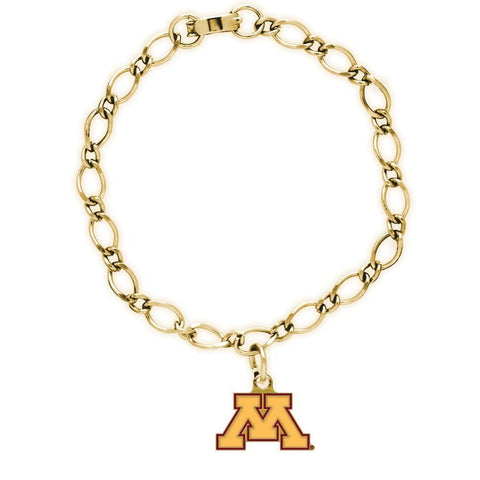 Minnesota Golden Gophers Official NCAA 7 inch Charm Bracelet by Wincraft