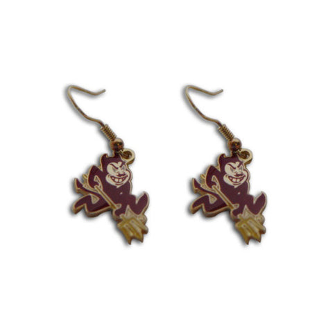 Arizona State Sun Devils Earrings - Logo Dangle Earrings