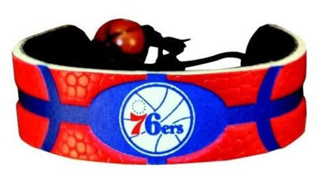 Philadelphia 76ers Leather Basketball Bracelet