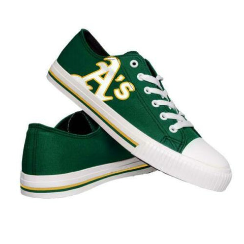 Oakland Athletics Shoes - Men's Low Top Canvas Logo Shoe