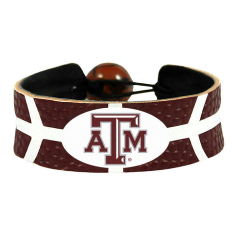 Texas A&M Aggies Leather Basketball Bracelet