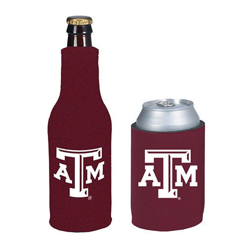 Texas A&M Aggies Can & Bottle Koozie Combo