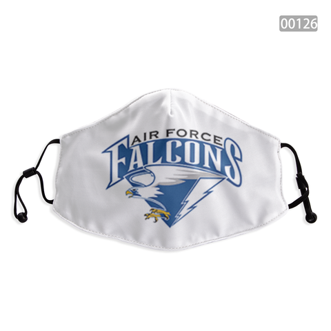 Air Force Falcons Face Mask - Reuseable, Fashionable, Washable