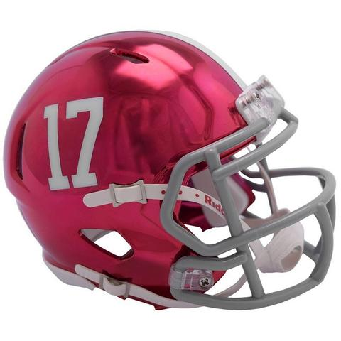 Alabama Crimson Tide Helmet - Chrome Mini Football Helmet