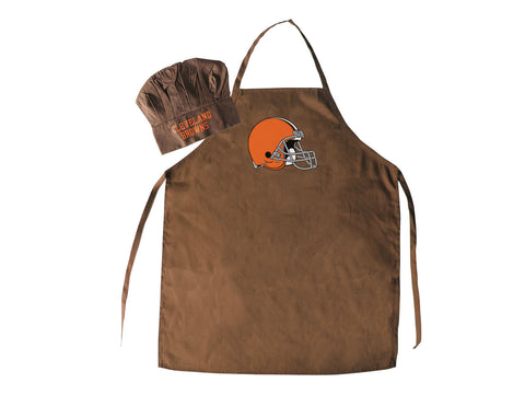 Cleveland Browns Apron and Chef Hat for Barbecuing