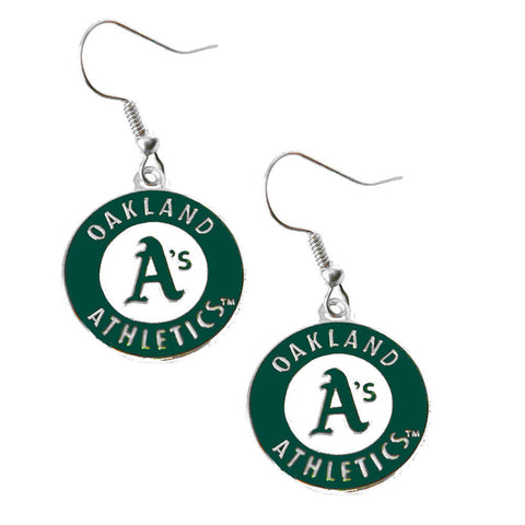 Oakland Athletics Logo Dangle Earrings